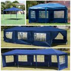 10' 20' 30' Outdoor Party Tent Patio Gazebo Canopy Wedding with Side Wall (Blue)