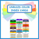 100 Color Index Cards with Rounded Corners ~ Unruled Blank Cardstock Card Stock