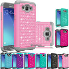 Hybrid Rubber Bling Crystal Case Cover For Samsung Galaxy Grand Prime / J2 Prime