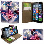 For Various Nokia Phones Printed Leather Magnetic Flip Case Cover + Stylus <br/> BUILT IN CARD/MONEY SLOTS  MAGNETIC FLIP CLOSURE