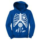 Children Skeleton Candy Rib-cage X-Ray Halloween Funny Toddler Hoodie Costume