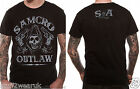 Official Sons Of Anarchy Outlaw T Shirt Black Samcro  Medium