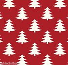 CHRISTMAS XMAS TREES WIPE CLEAN OILCLOTH COVER PVC TABLECLOTH click for sizes
