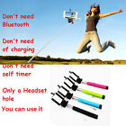 Handheld Comfortable Feel Monopod Extendable Telescopic  Cellphone Plug And Play