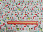 Modern Christmas trees print Fabric / sold by the metre 148cm wide Polycotton