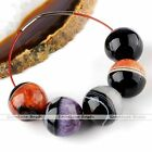 5x 20/22/24/30mm Round Drusy Agate Loose Bead Ball Gemstone Clearance Charm DIY