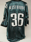 NEW Mens REEBOK Phila EAGLES Brian WESTBROOK #36 NFL Green Football Jersey