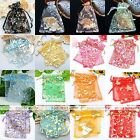 100x Lot Gold Stamping Rose Star Moon Heart Favor Xmas Candy Pouch Gift Bag Box