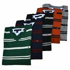 Tommy Hilfiger Sweater Mens Striped V-Neck Long Sleeve Pullover Nwt Th Flag Logo