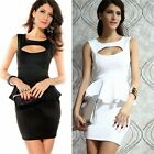 Backless Night Out Club Peplum Women's Package Hip Cocktail Party Bodycon Dress
