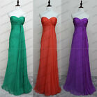 New2015 Cheap Bridesmaid Dresses Sheath Chiffon Prom Party Evening Gown Size6-16