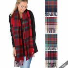 Women Oversized Blanket Scarf Check Tartan Stole Shawl Wrap Warm Cover Up Winter