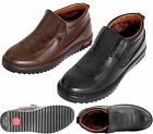 NEW MENS CASUAL FUR LINED SLIP ON WINTER BROWN ANKLE BOOTS SHOES SIZE 6 TO 11