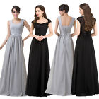 New Masquerade Ball Gown Bridesmaid Formal Evening Party Prom Dress UK size 6-20