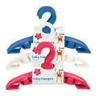10 Baby Clothes Hangers Toddler Childrens Kids Coat Plastic Space Saver Slim New