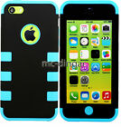 Colorful Heavy Duty Hybrid Rugged Silicone PC Hard Soft Case Cover For iPhone 5C