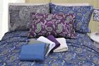 Luxury Paisley OR Plain Pattern Flannel Sheet Set 100% Cotton