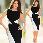 Summer New Style women Colorblock Cocktail Party Bodycon Office Work Dress b65