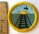 Girl Scout 1963-1980 Cadette TRAVELER BADGE Railroad Train Flying Patch CHOOSE