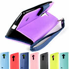 Protective Synthetic Leather Wallet Pouch Phone Cover Case for LG G Stylo