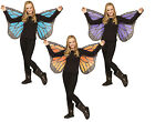 Soft Child Butterfly Wings Blue Violet Gold Costume Accessories fnt
