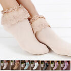 Sweet Cute Women Ladies Princess Girls Vintage Lace Ruffle Frilly Ankle Socks #