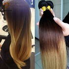4 bundles Peruvian Virgin Ombre Remy Straight Human Hair Extensions 200g 3tone