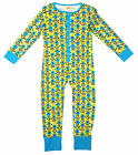 Boys Despicable Me Minions Jigsaw Popper Sleepsuit All in One Romper 4 to 12 Yrs