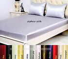 19 Momme 100% Pure Silk Fitted Sheet Flat Sheet Pillowcase Set Double Size