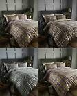 Arran Tartan 100% Brushed Cotton Flannelette Thermal Duvet Quilt Cover Bedding