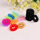 NEW 10pcs Hair Ring Rope Ponytail Holder Elastic Candy Telephone Line Hair Band