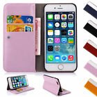 Luxury Leather Flip Wallet Case Cover For Apple iPhone 5S 5 5C 4S 4 6 6S & Plus