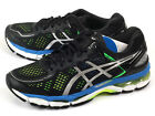 Asics Gel-Kayano 22 Black/Silver/Flash Yellow Breathable Running 2015 T547N-9093
