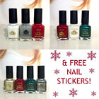 LCN 8ml Nail Polish Lacquer Christmas Winter Colours & FREE stickers! FREE P&P!