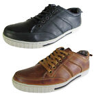 Steve Madden Mens P-Oscarr Leather Lace Up Sneaker Shoe