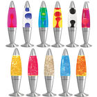 16' Soothing Motion Lava Lamp Relaxing Glitter Liquid Wax Light Novelty Gift New