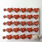 Lot Heart shape Flashing LED Light Up Badge/Brooch Pins Valentine's day gif A028