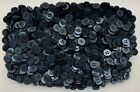 Small 11mm 18L Dark Navy 4 Hole Quality Satin Finish Shirt Buttons Crafts (Z162)