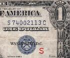 """NICE Bold Mid-Grade 1935 A $1 EXPERIMENTAL """"S"""" Silver Cert! FREE SHIP S74002113C"""