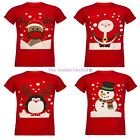 MENS XMAS T SHIRT NOVELTY SANTA REINDEER SNOWMAN CHRISTMAS WOMENS UNISEX TEE TOP