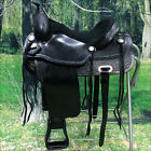 "TO106BK HILASON TREELESS WESTERN TRAIL BARREL RACING HORSE RIDING SADDLE 16"" 17"""