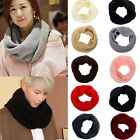 Hot Ladies Women Winter Knitted Crochet Long Circle Tube Scarf Shawl Neck Warmer