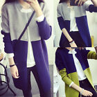 Fashion Ladies Womens Knit Sweater Trench Cardigan Jacket Long Coat Top Overcoat