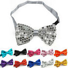 Glitter Sparkly Sequin Dickie Dicky Bow Tie Dance Party Fancy Dress Adjustable