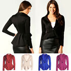 Women Lady One Button Slim Casual Business Blazer Suit Jacket Coat Outwear UK