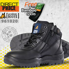 Mongrel Work Boots Security Zip Sider Non Steel Soft Toe Black Free Vest 961020