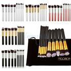 10Pcs Professional Cosmetic Makeup Brush Brushes Set Powder Eyeshadow with Bag