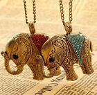 New Charm  Fashion Crystal Elephants Pendant Sweater Chain   Necklace