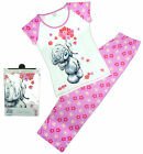 Womens Tatty Teddy Me to You Flowers Gift Pack Pyjamas Pink Plus Sizes 8 to 22