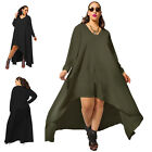 New Women's Long Sleeve Evening Cocktail Party Maxi High Low Dress Plus Size